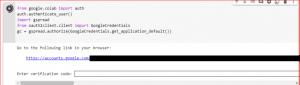 Google Colab Authorization